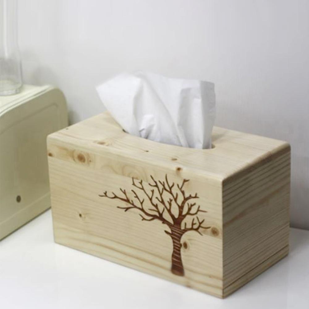 나무 휴지 케이스