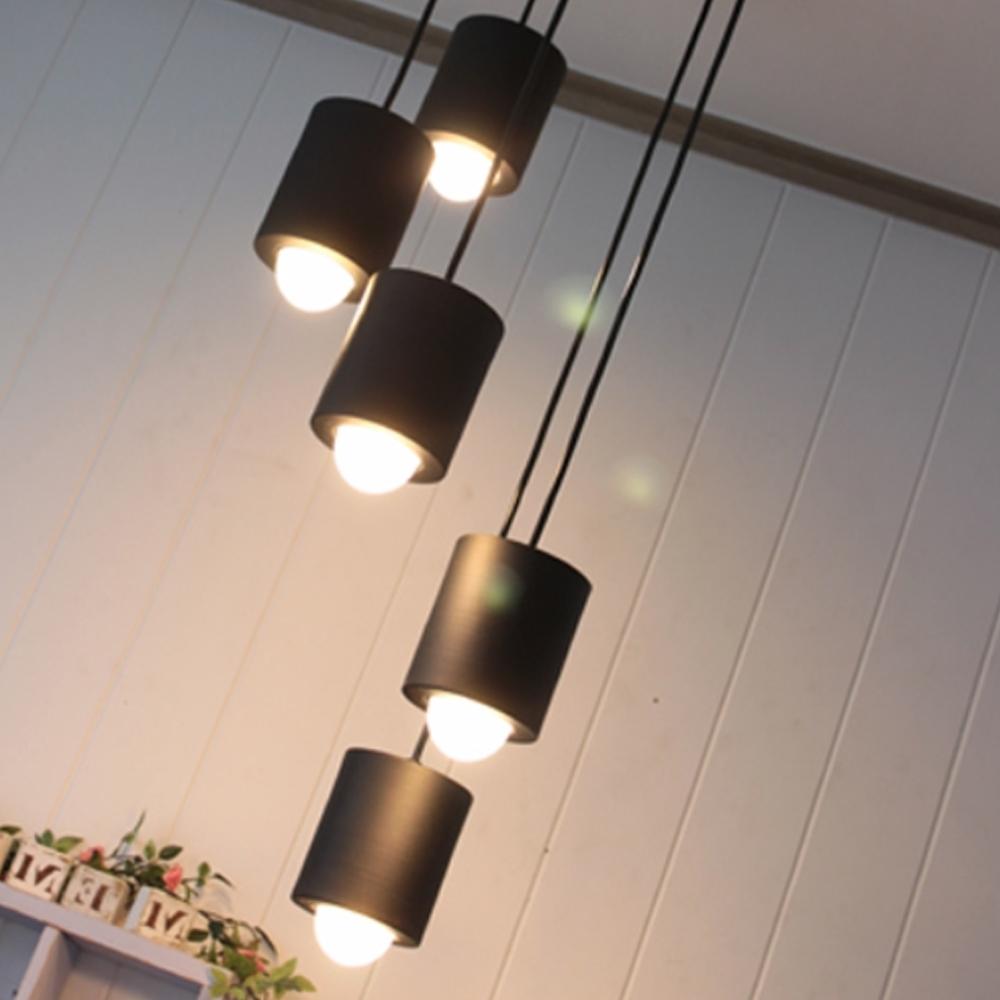 배럴5등 펜던트(라운드형)[LED]-4color