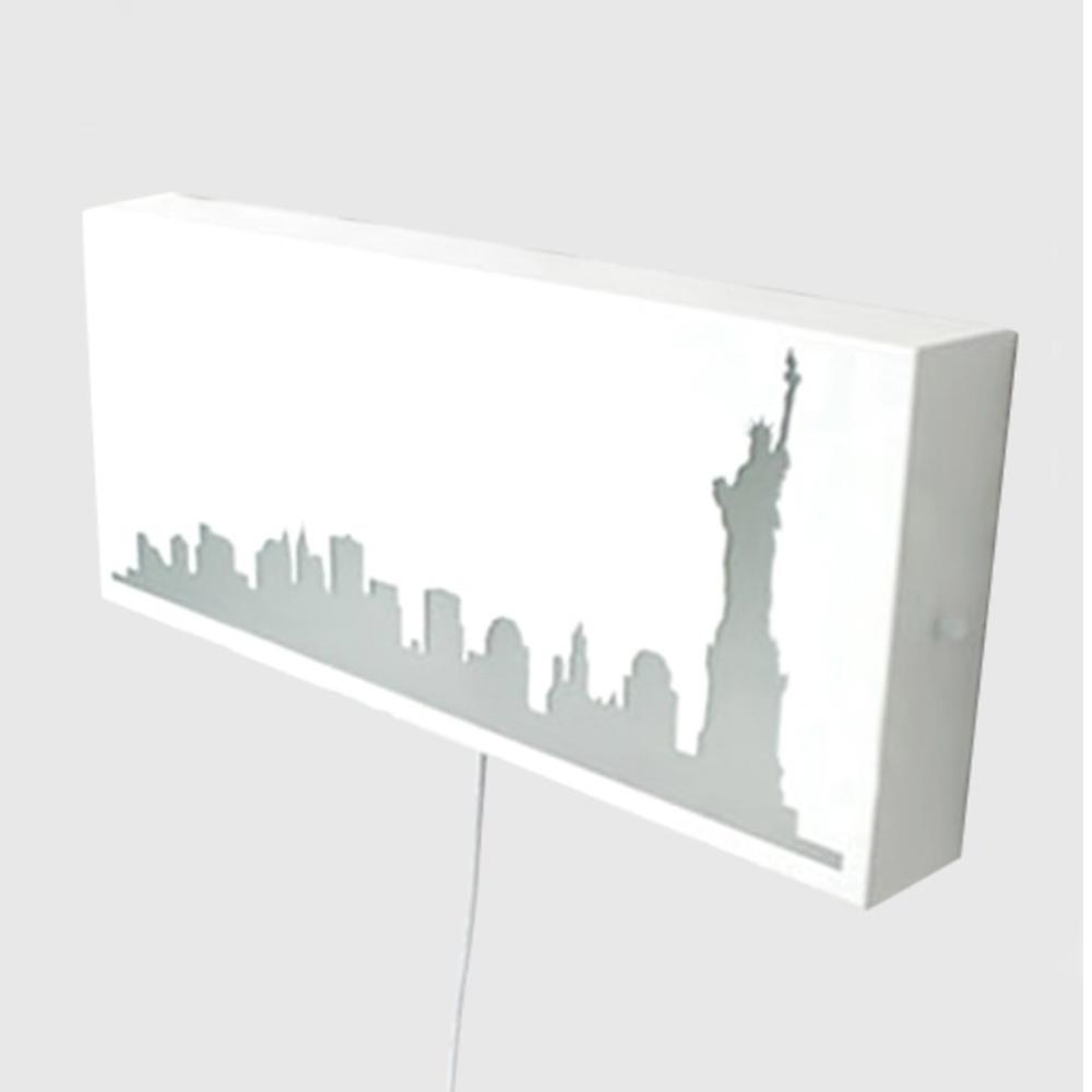 뉴욕 벽걸이-화이트