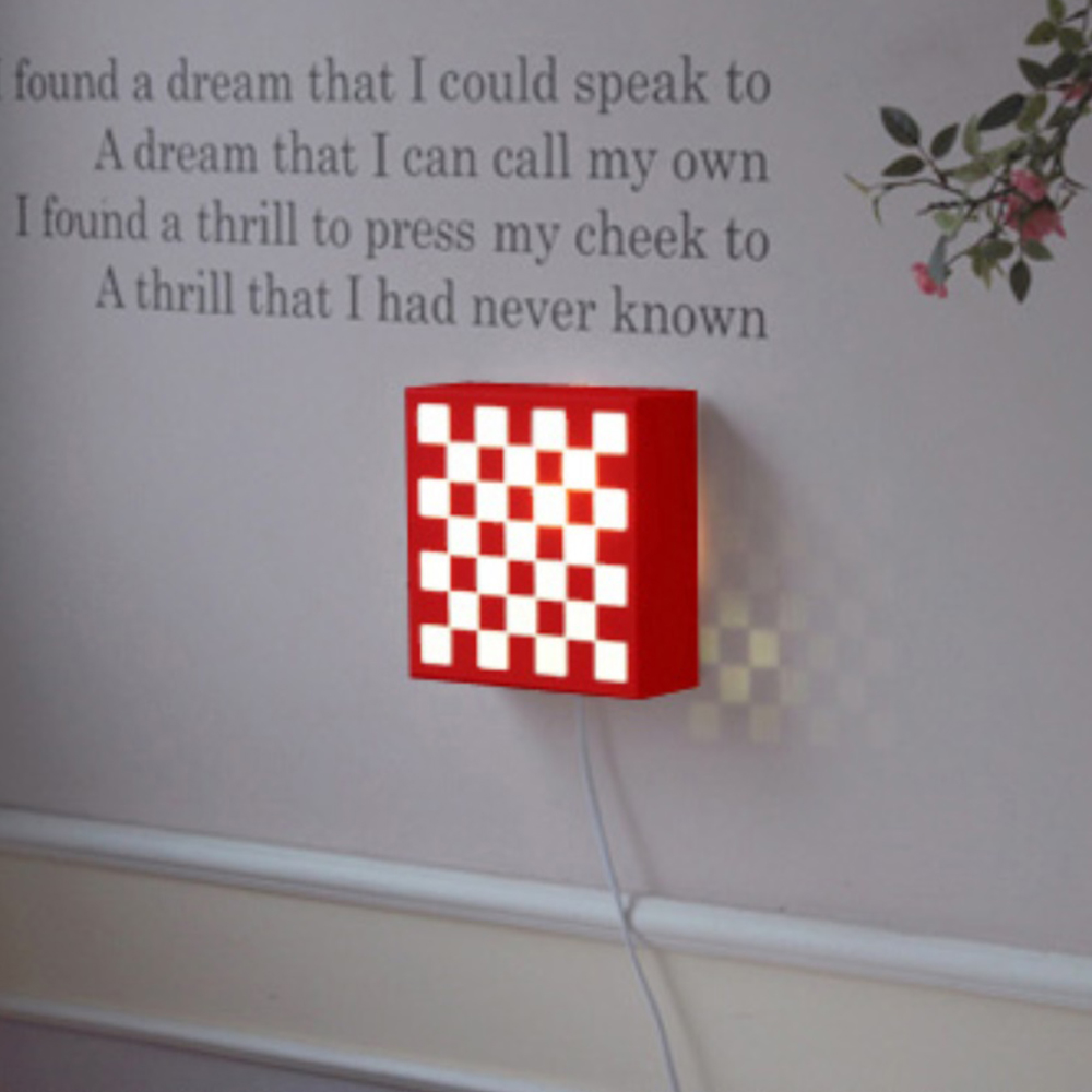 큐브1등 벽걸이-레드