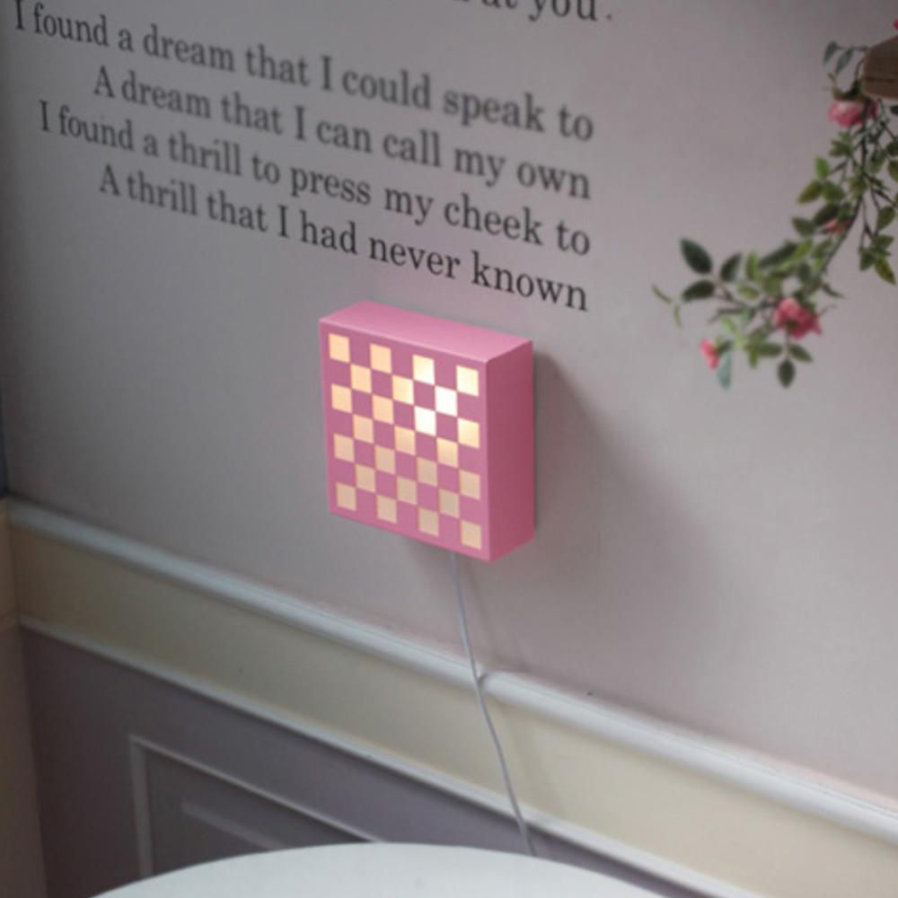 큐브1등 벽걸이-핑크