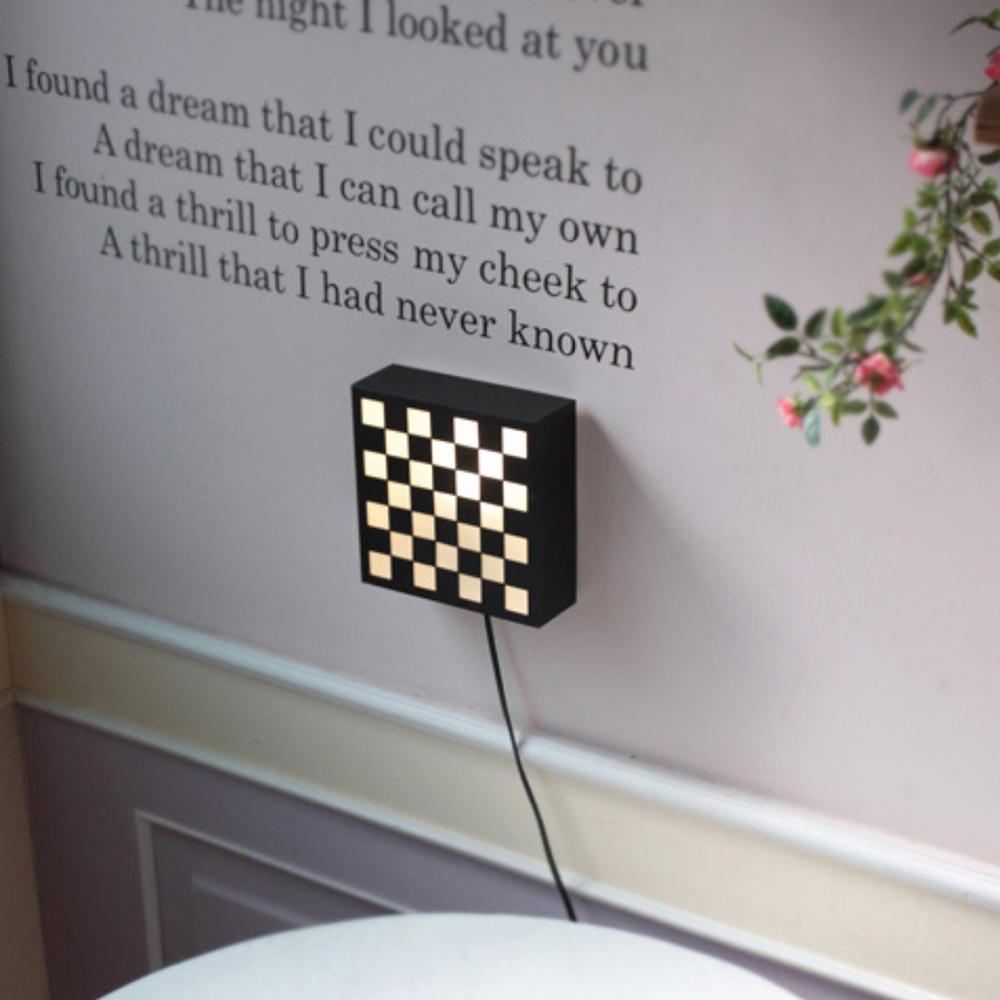 큐브1등 벽걸이-블랙