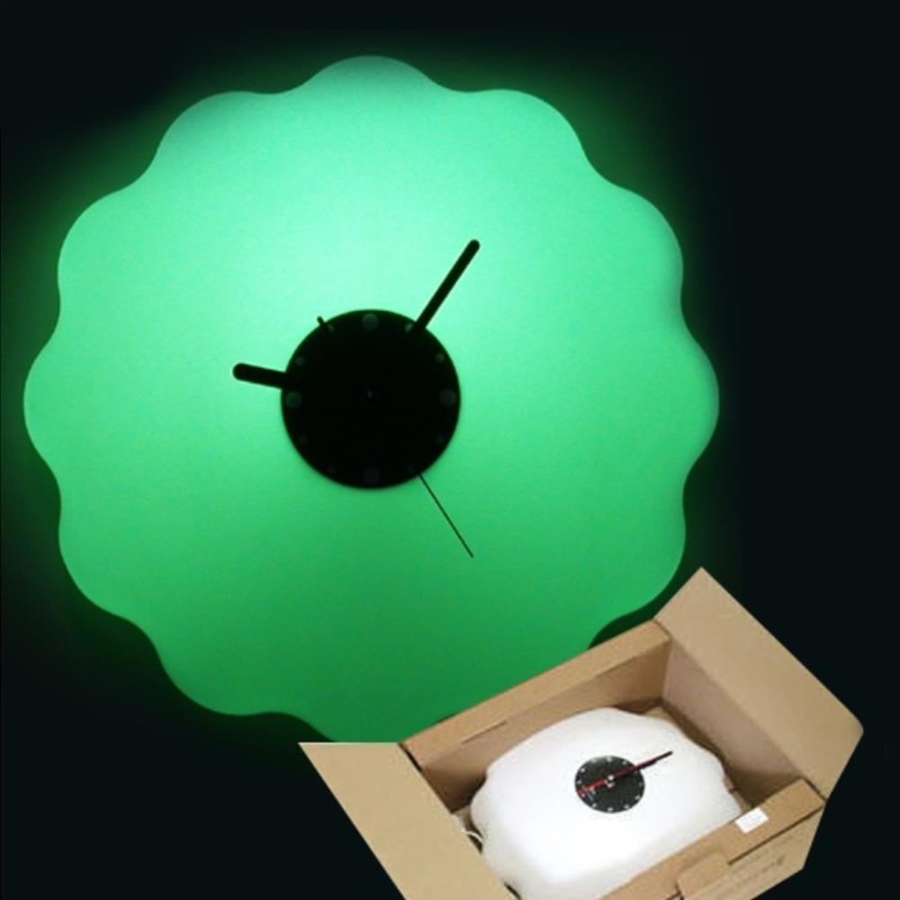 버블 시계조명 - 그린