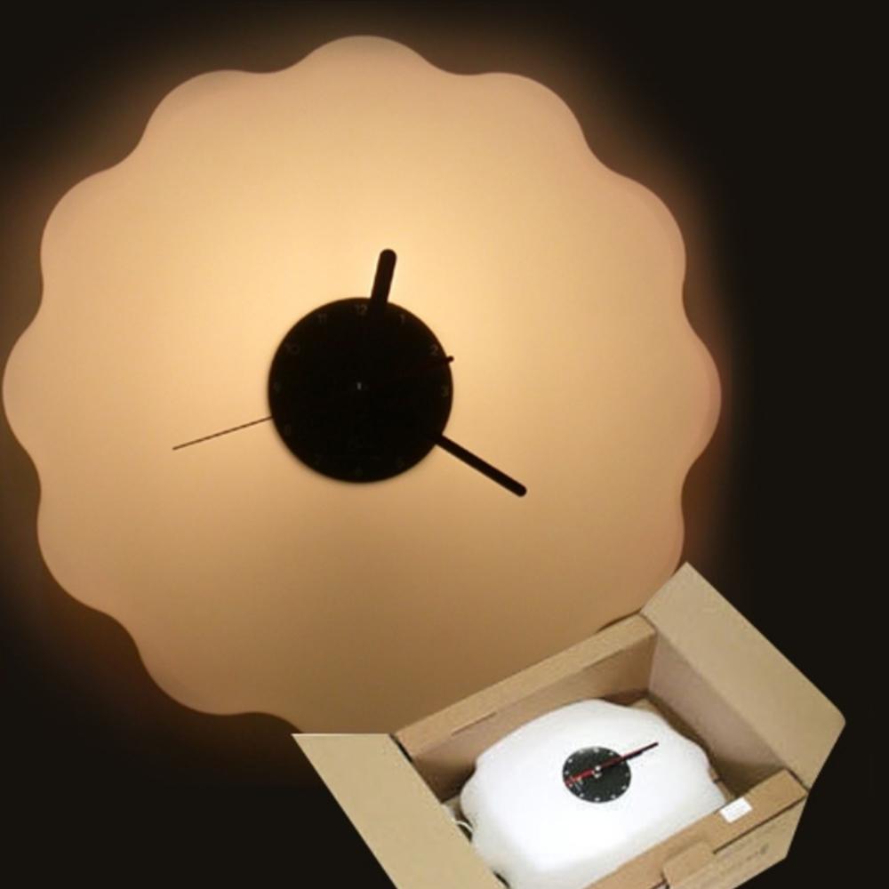 버블 시계조명 - 옐로우