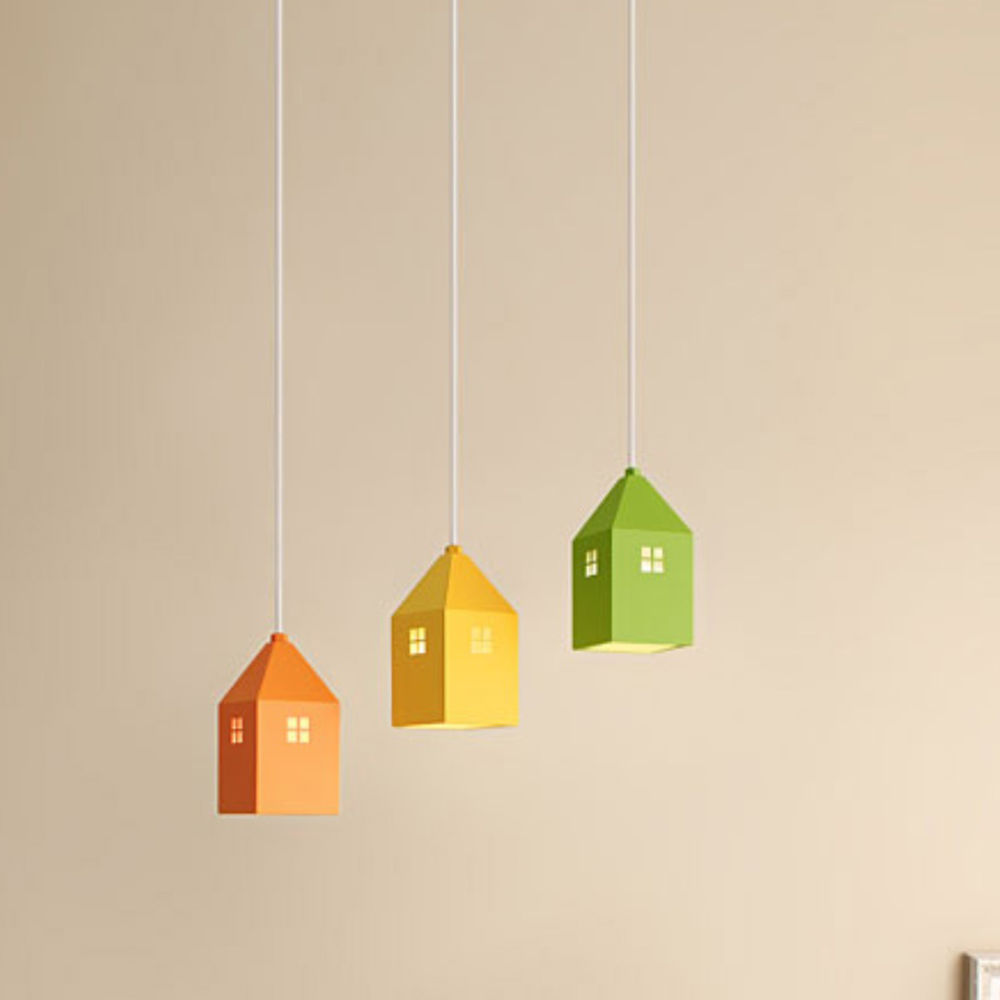 하우스3등 펜던트[LED]-일자형(6color)