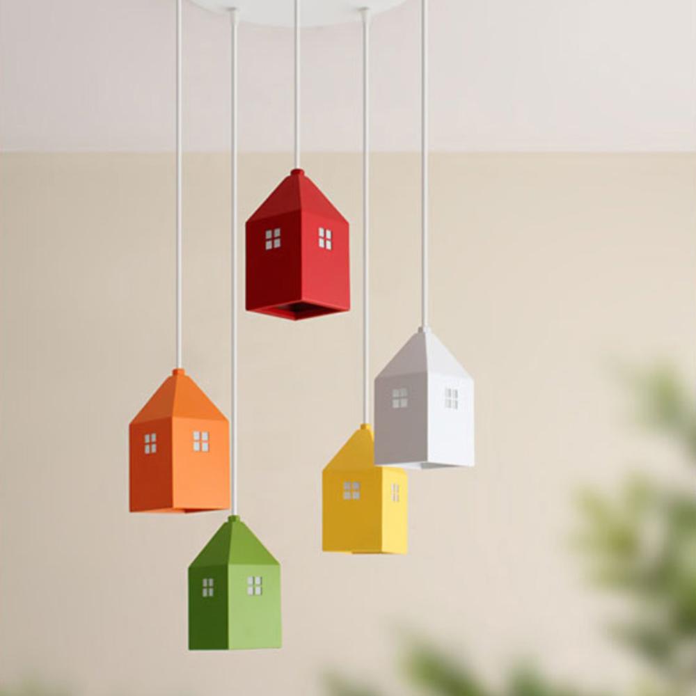 하우스5등 펜던트[LED]-라운드형(6color)
