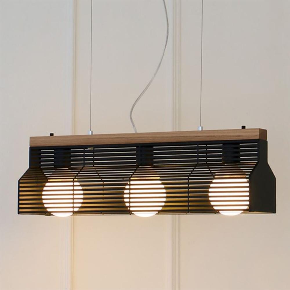 [LED] 블라인드3등 펜던트-블랙