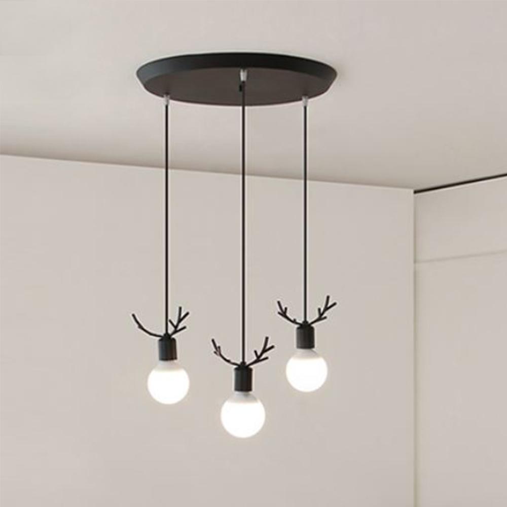 [LED] 디어3등 펜던트-블랙
