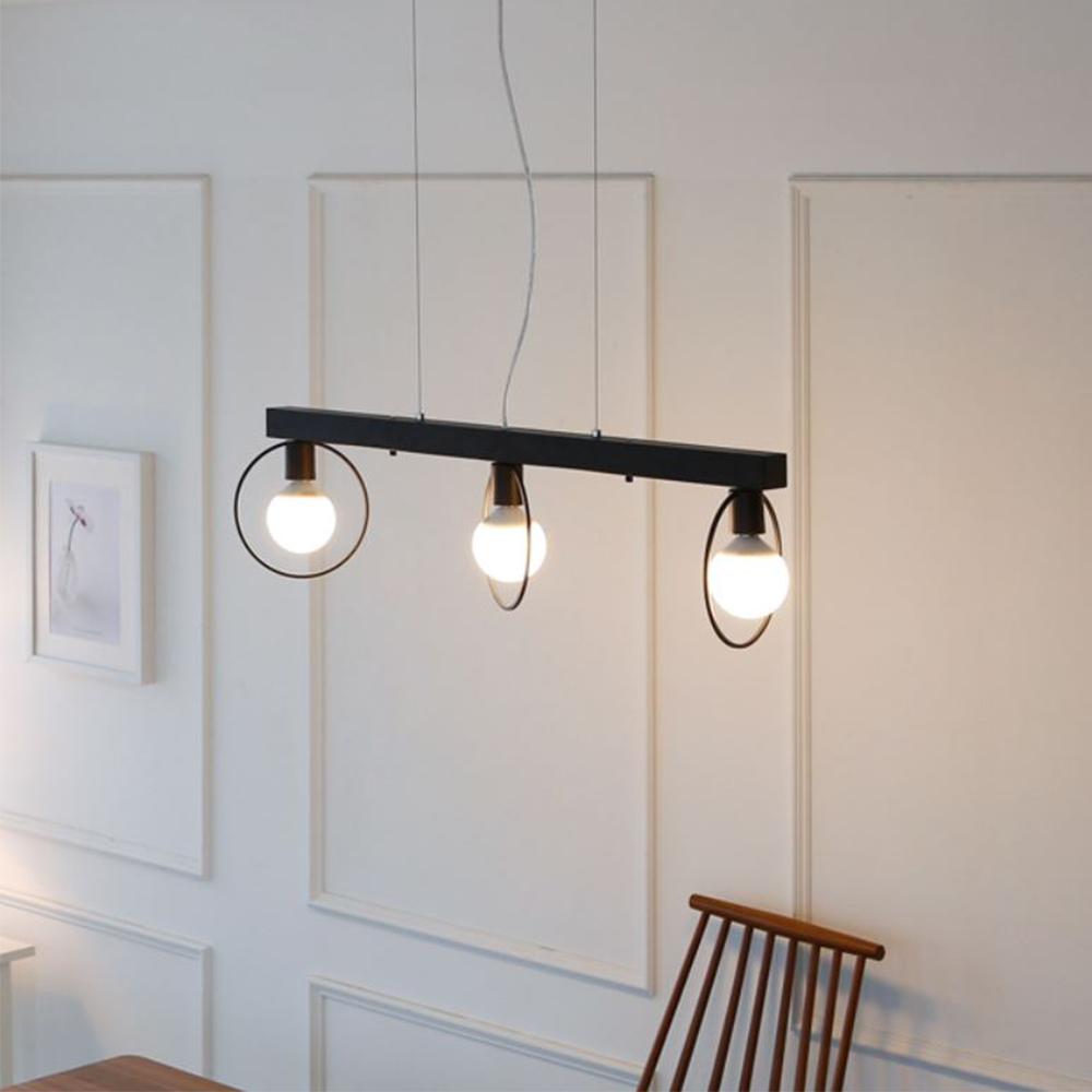 [LED] 네스트 3등 펜던트-블랙or그레이