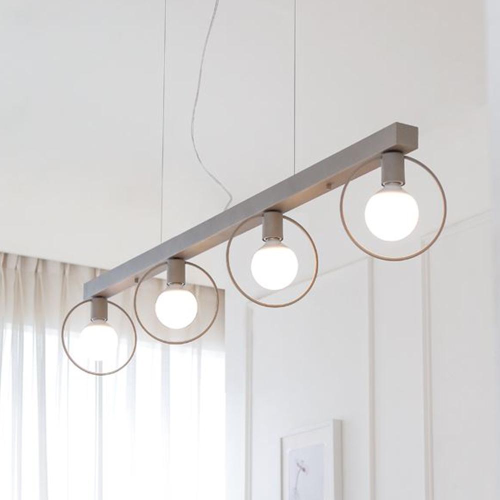 [LED] 네스트 4등 펜던트-블랙or그레이
