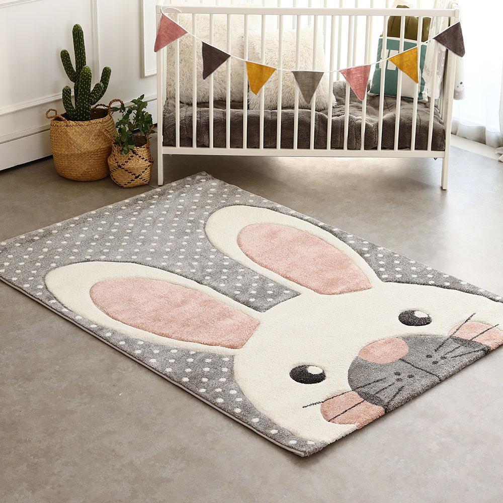 포슬포슬 토끼 동물 카페트