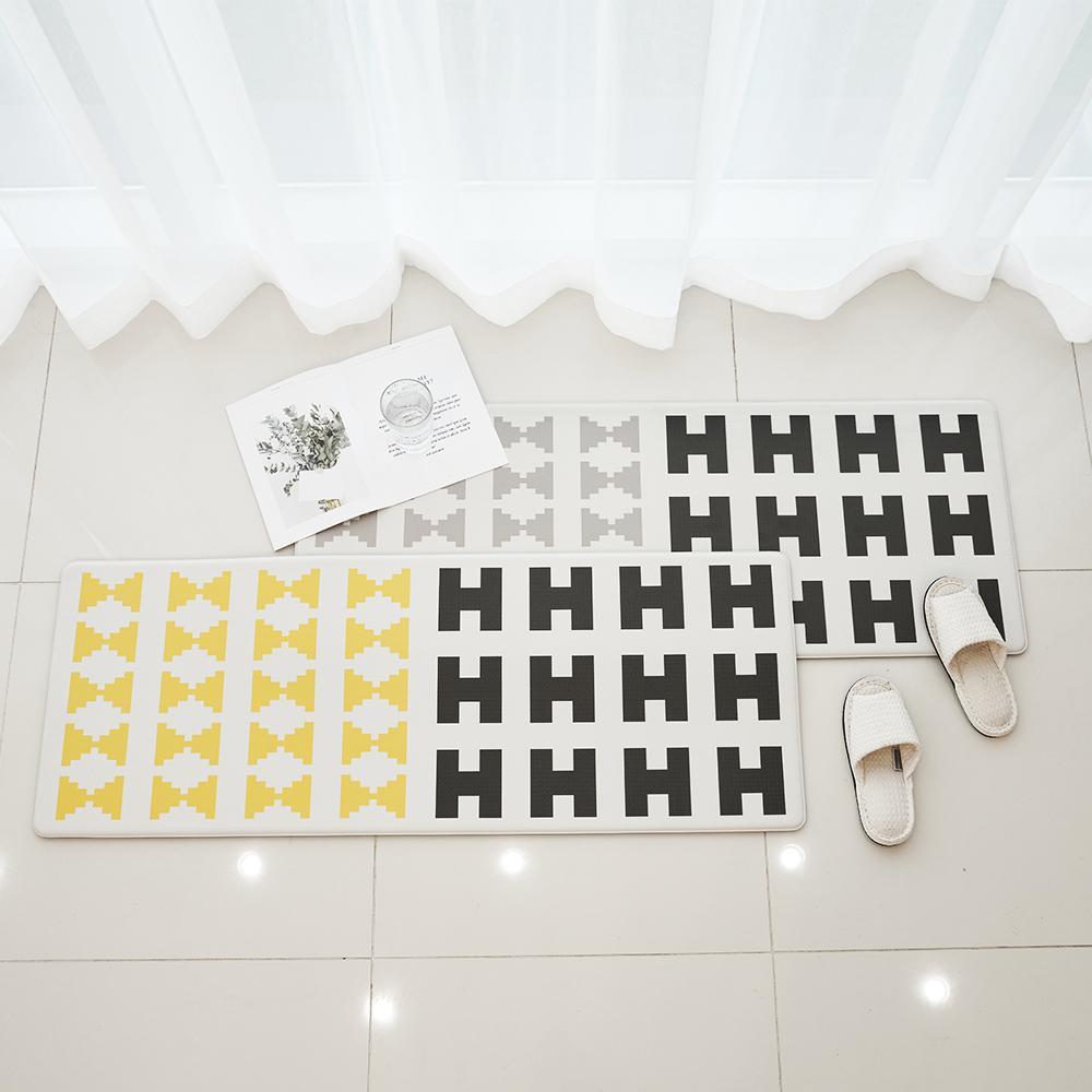 북유럽 방수 쿠셔닝 PVC 녹스 주방매트 2colors