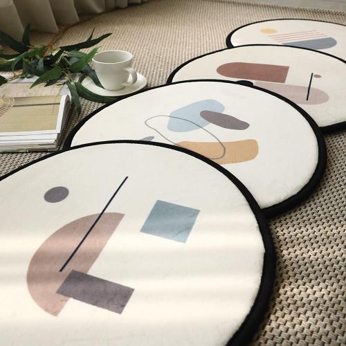 모던 라인 메모리폼 원형 방석 4colors 2size