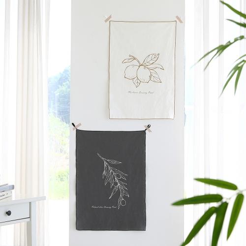 [반짝특가]린넨 내추럴드로잉 패브릭 포스터/가리개/커튼