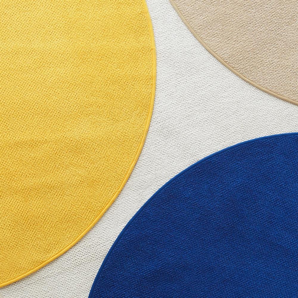 워셔블 포인트 원형러그 4colors 2size