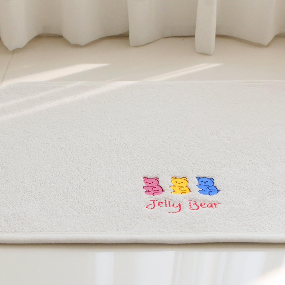 부드러운 젤리베어 자수 발매트 40x60