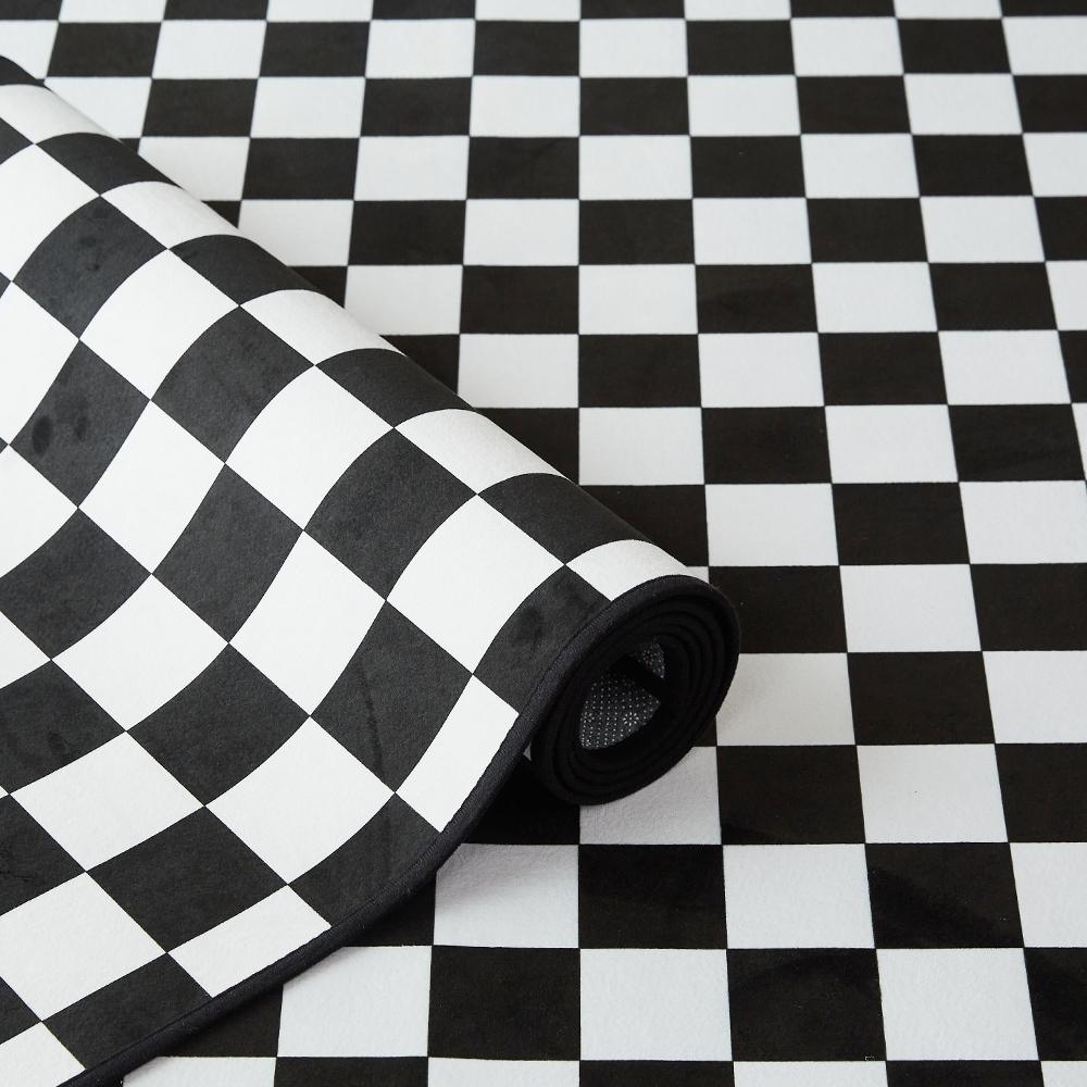 모던한 체커보드 단모 러그 6size